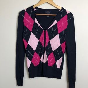 Brooks Brothers Argyle cardigan sweater size small